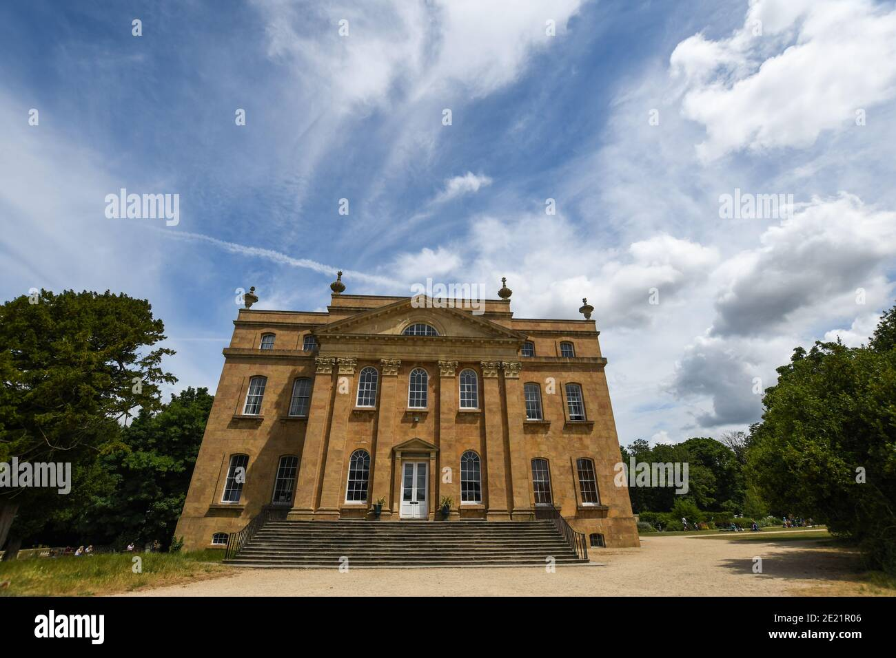 Image of Kings Weston House, a historic building in Kings Weston Lane, Kingsweston, Bristol, England, with beautiful sky in the background and copy sp Stock Photo