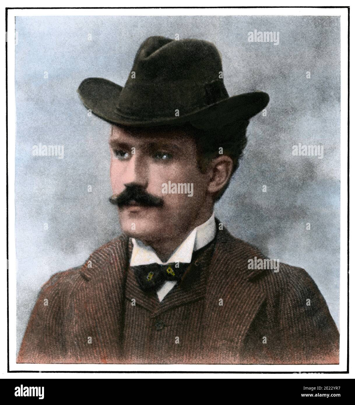 Arturo Toscanini. Hand-colored halftone of a photograph Stock Photo