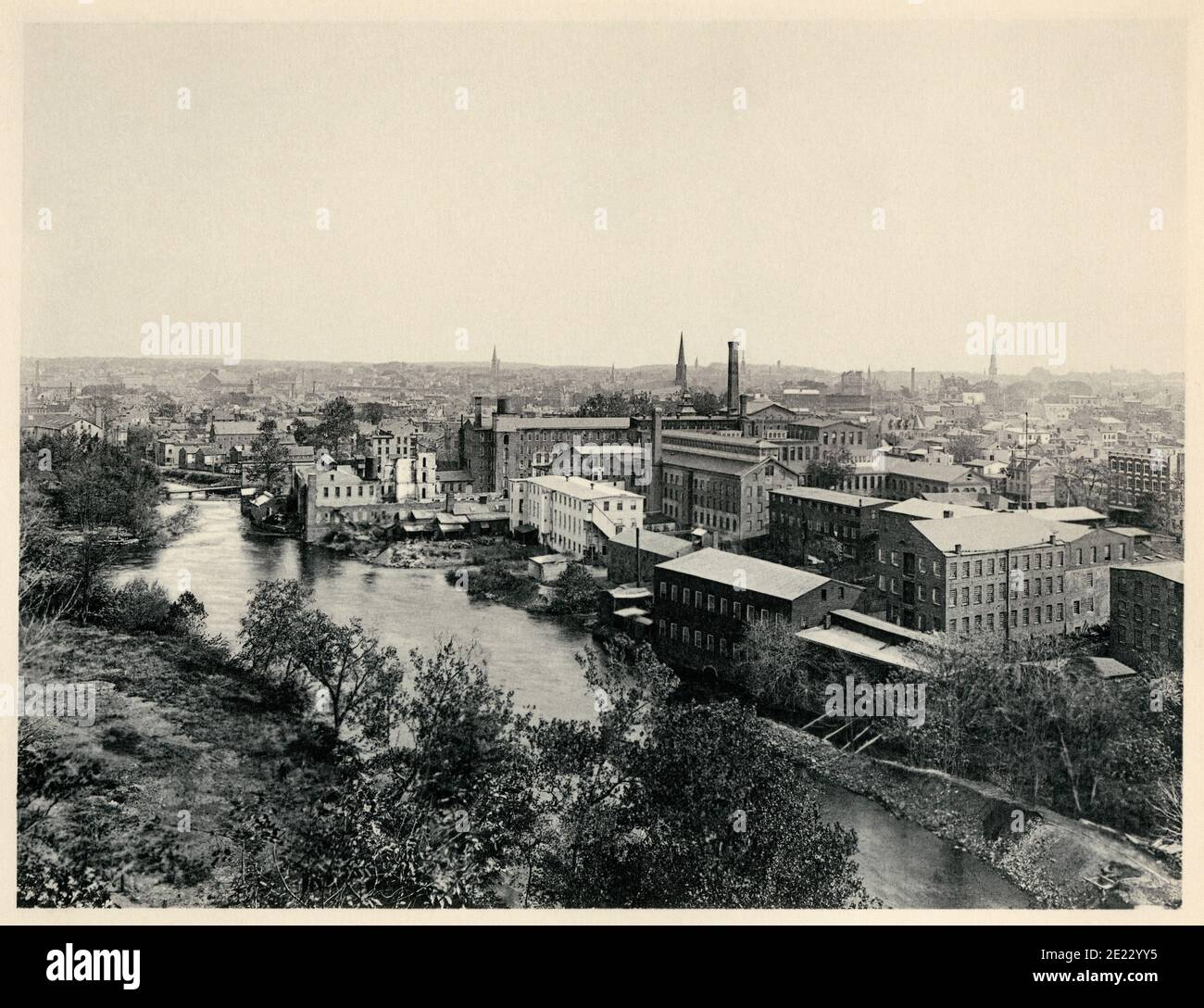 Paterson, New Jersey, in the 1890s. Photogravure Stock Photo