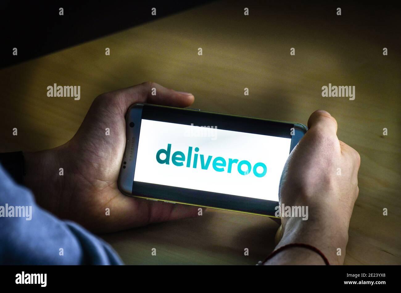Logo deliveroo Stock Photo
