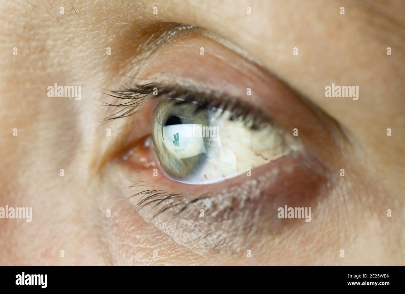 Auge, Logo deliveroo Stock Photo