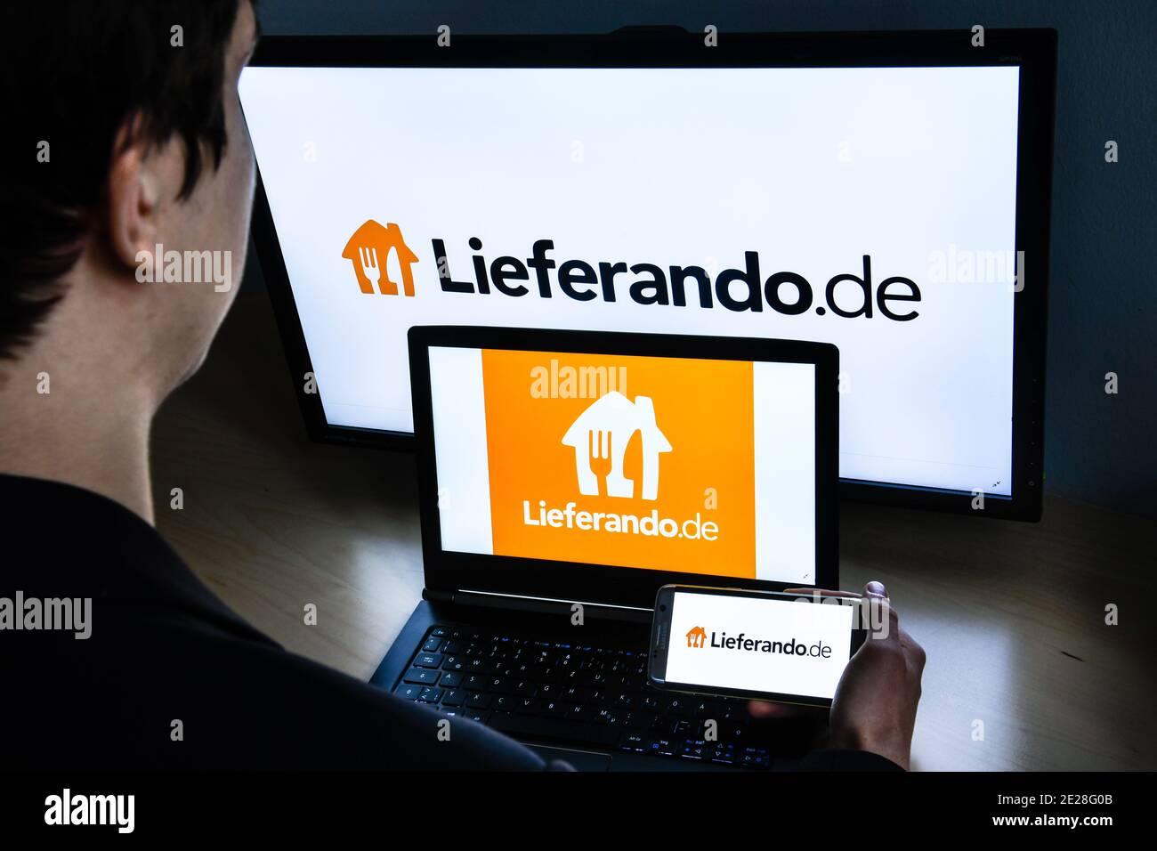 Logo Lieferando Stock Photo
