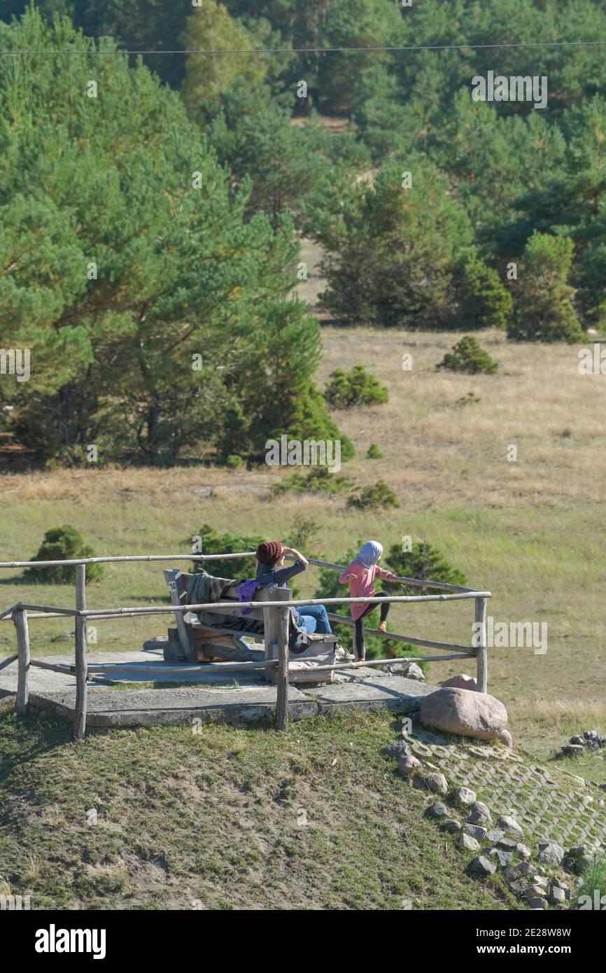 Aussichtspunkt, Naturpark, Wildgehege Glauer Tal, Fläming, Brandenburg, Deutschland Stock Photo