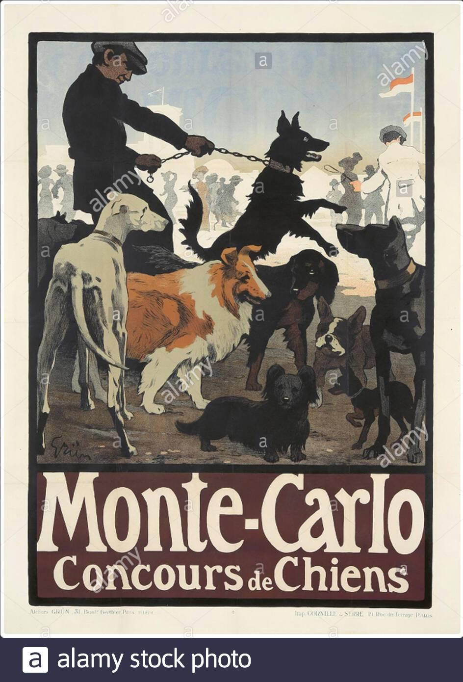 Monte Carlo Beaside resort travel poster repro 20x30