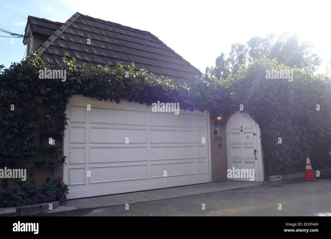 Los Angeles, California, USA 13th January 2021 A general view of atmosphere of former home/residence of actor Errol Flynn and wife actress Lili Damira at 8946 Appian Way on January 13, 2021 in Los Angeles, California, USA. Photo by Barry King/Alamy Stock Photo Stock Photo
