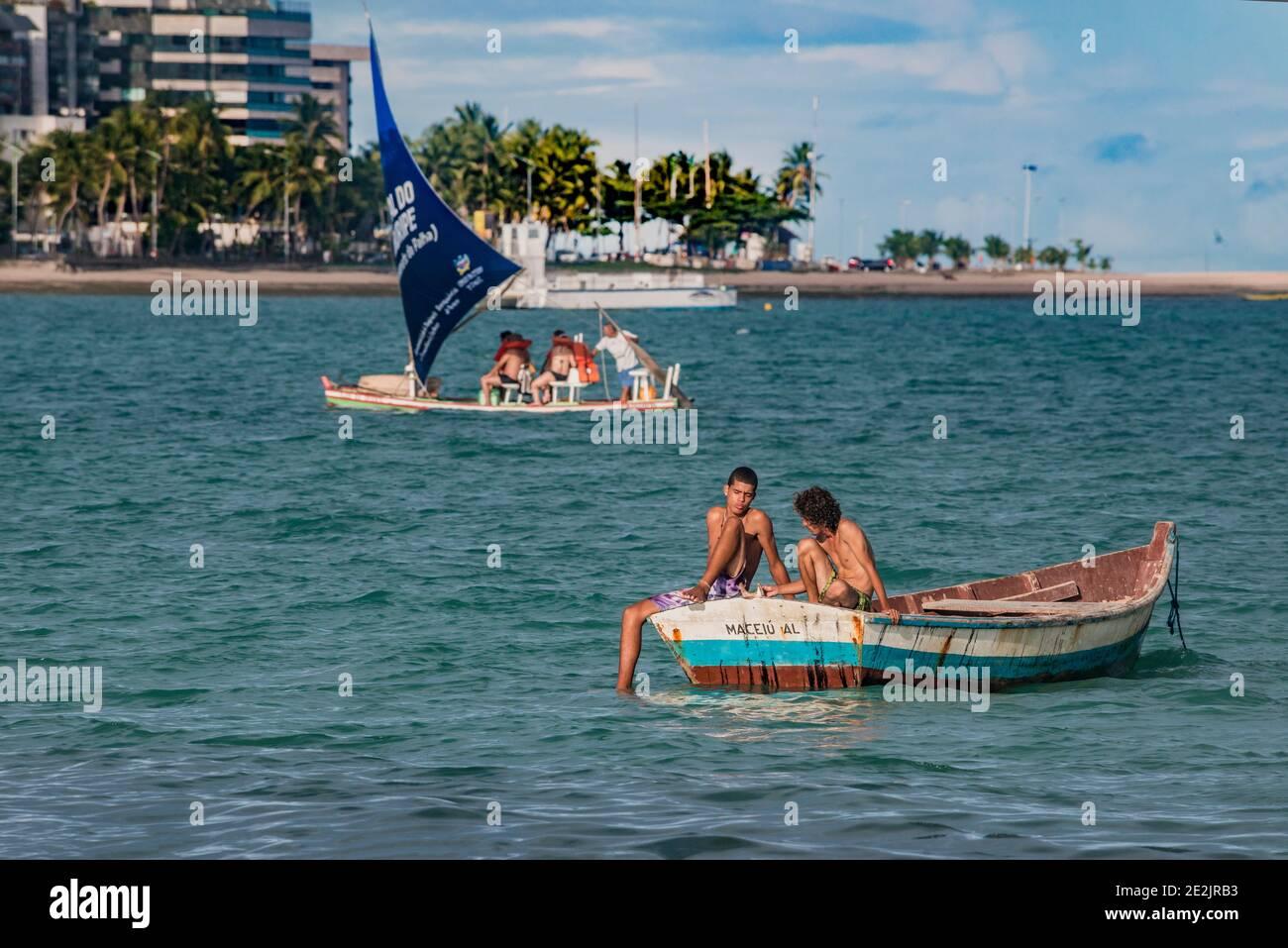 Beaches of Maceió, Alagoas, Brazil Stock Photo