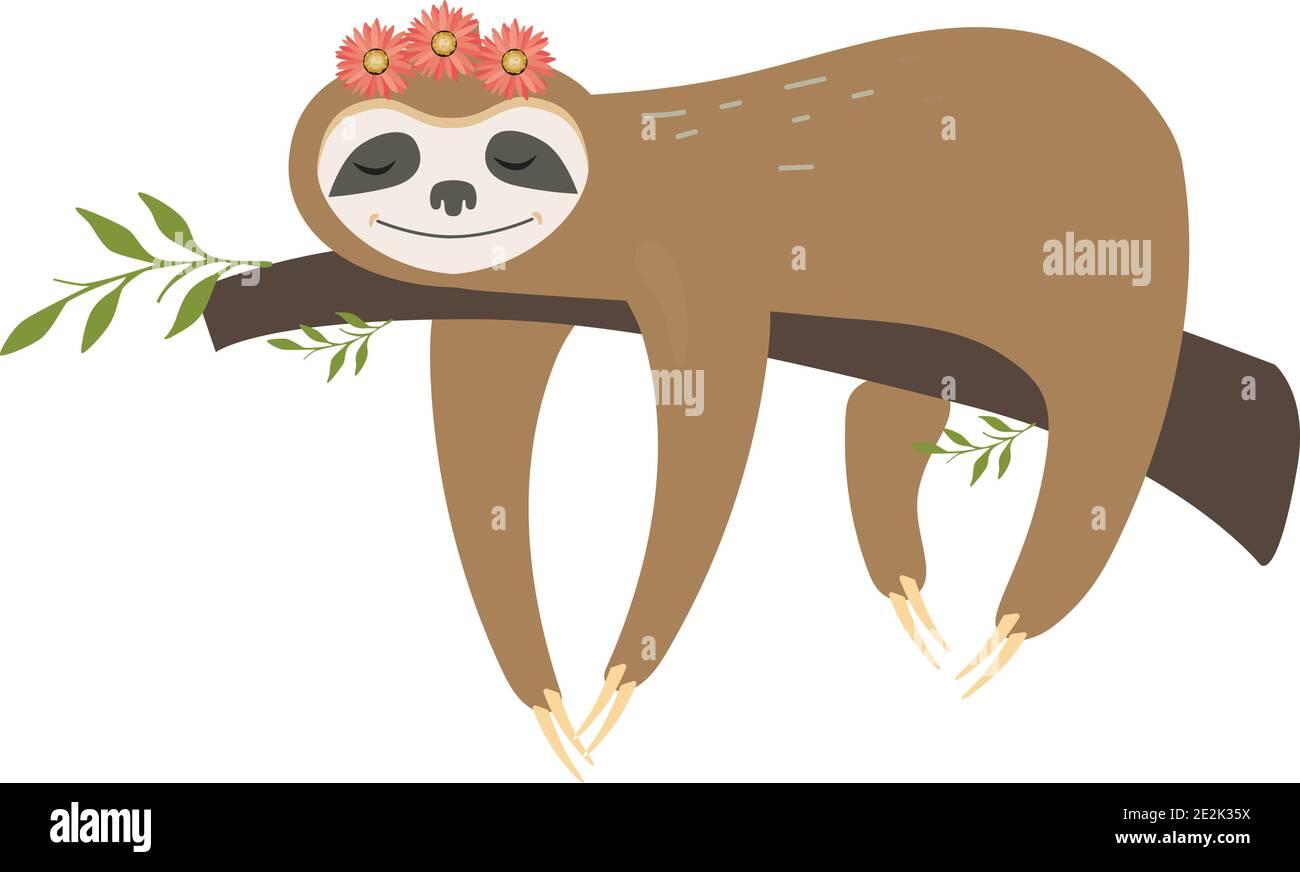 Sloth vector Stock Vector