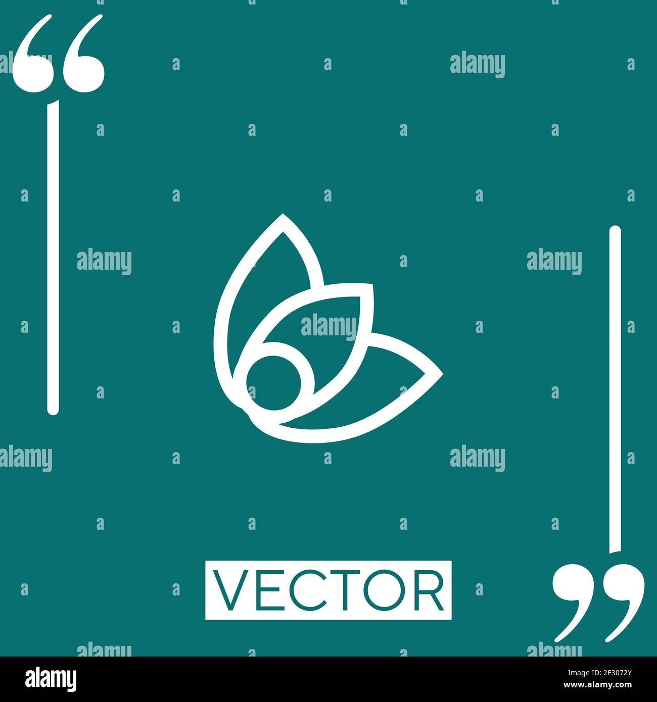 physalis vector icon Linear icon. Editable stroked line Stock Vector