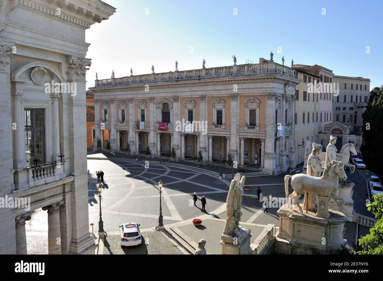 italy, rome, campidoglio, palazzo dei conservatori, musei capitolini, capitoline museums Stock Photo
