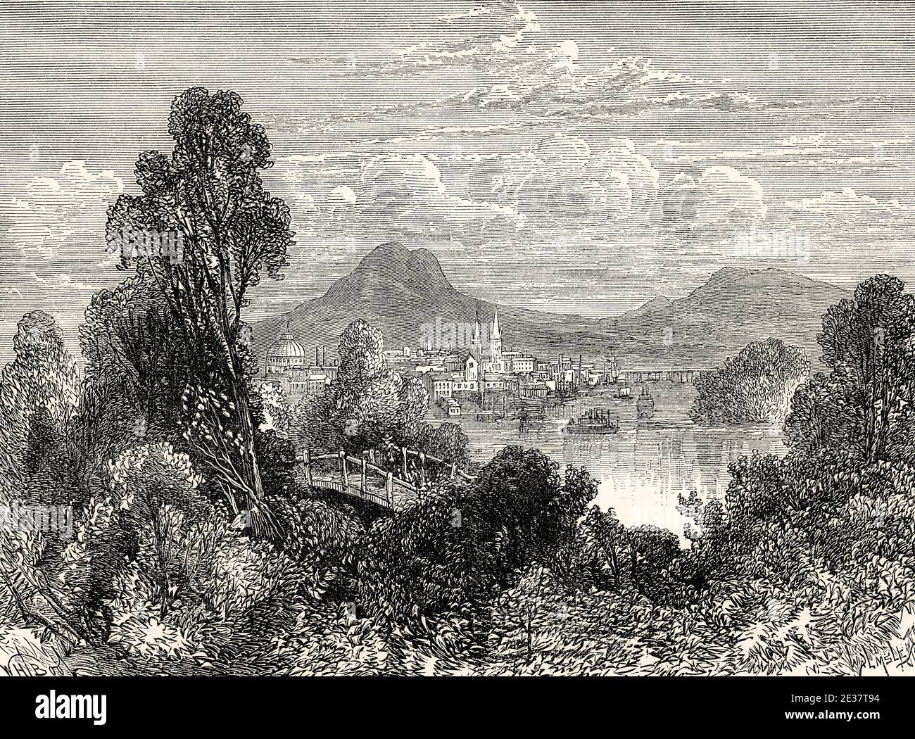 view of Long Island, U.S. state of New York, United States, 18th century Stock Photo
