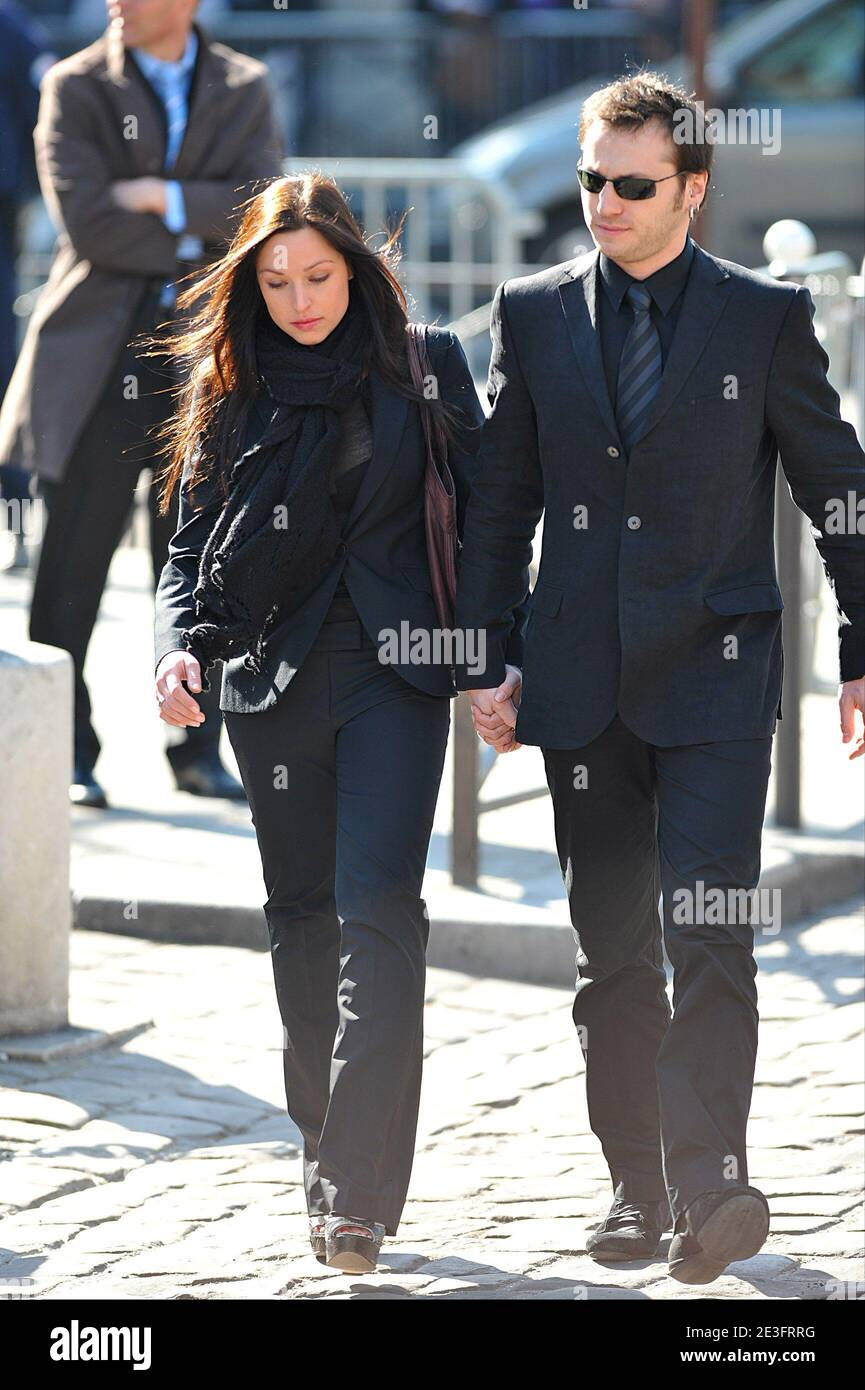 Natasha St Pier And Boyfriend Arriving At French Singer Alain Bashung S Funeral Ceremony Held At Eglise Saint Germain Des Pres In Paris France March 20 2009 Photo By Gouhier Mousse Nebinger Abacapress Com Stock Photo Alamy