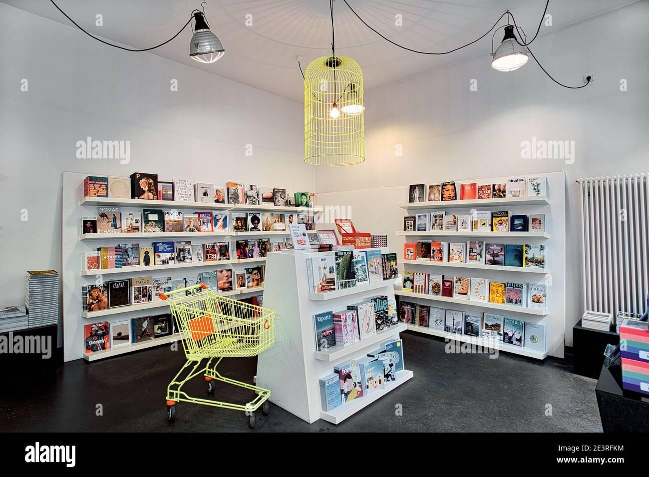 GERMANY / Munich /The modern SODA bookstore in Munich Stock Photo ...