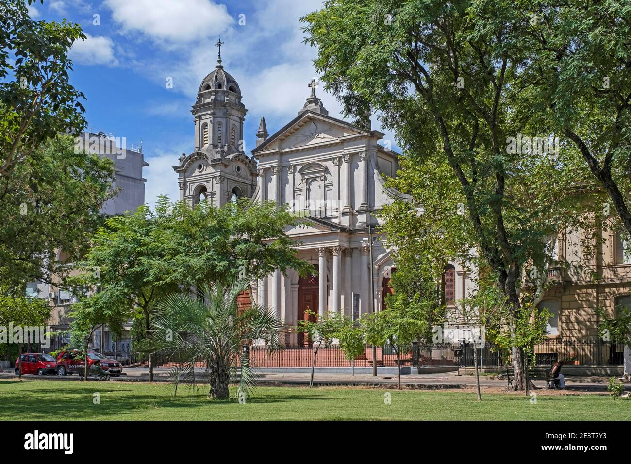 Cathedral of Salto, Roman Catholic church dedicated to saint John the Baptist at the Plaza Artigas in the city Salto, northwestern Uruguay Stock Photo