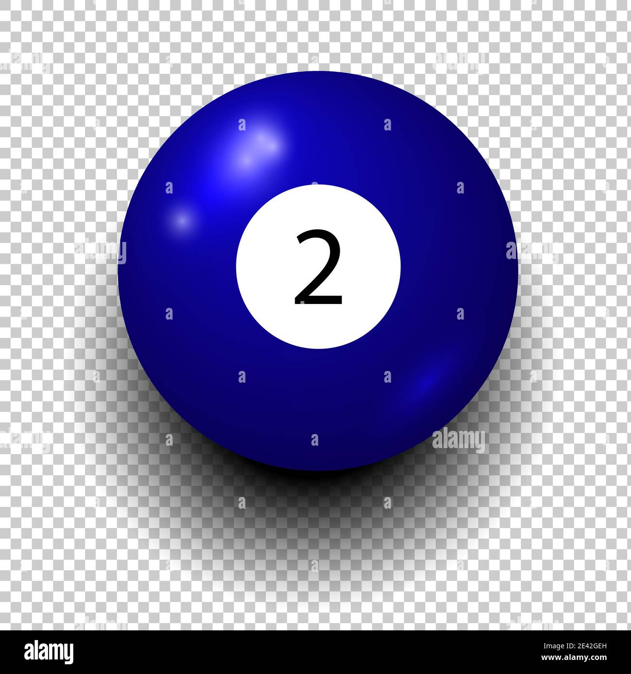 Billiard Blue Pool Ball Number 2 Snooker High Resolution Stock Photography And Images Alamy