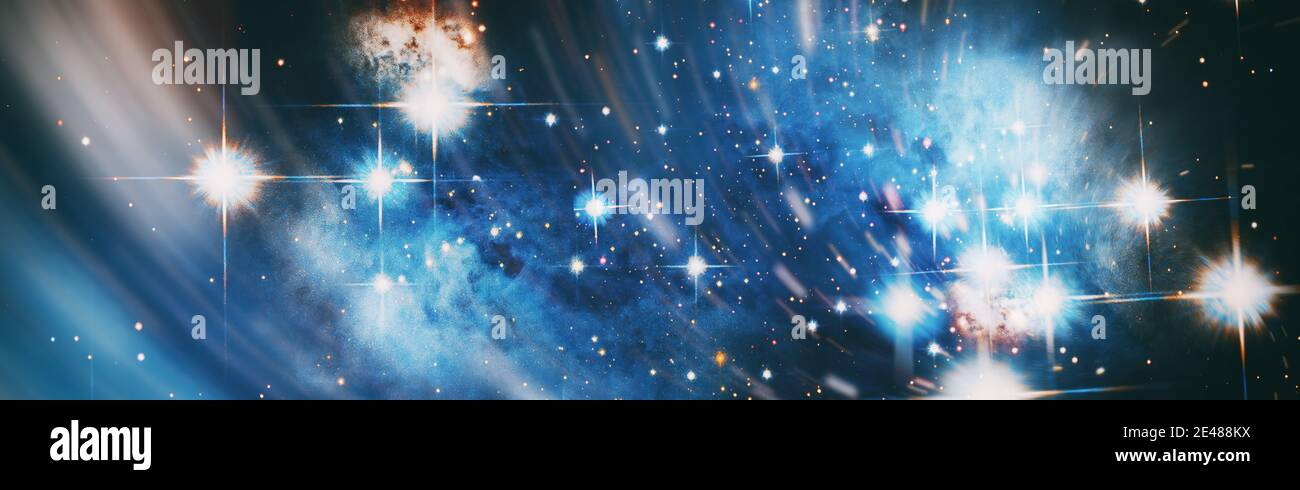 The Milky Way is the galaxy that contains our Solar System. Infinite space background with nebulas and stars. This image elements furnished by NASA Stock Photo