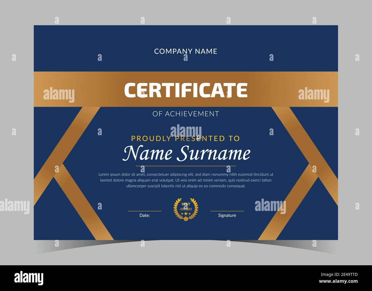 modern certificate template. certificate design, certificate Pertaining To Award Certificate Design Template