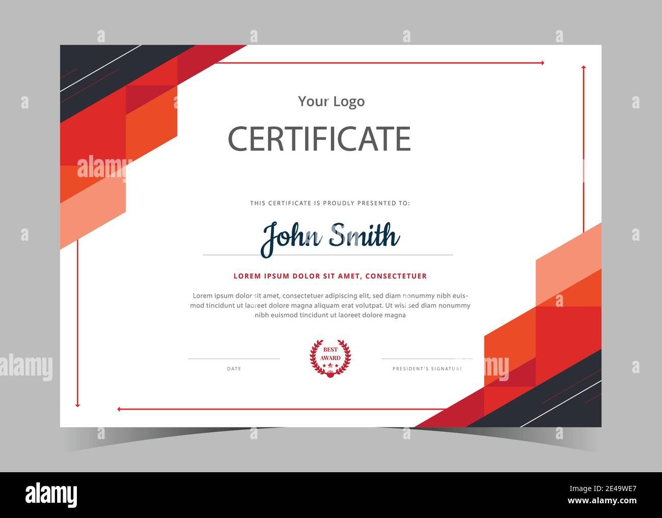 certificate template awards diploma. Professional Certificate Inside Award Certificate Design Template