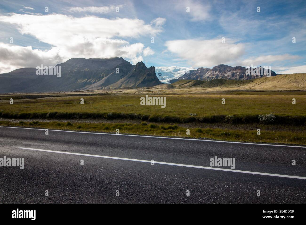 Vatnajokull national park and the biggest glacier in europe view from the ringroad Stock Photo