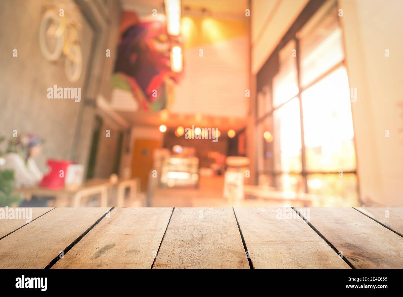 Abstract beautiful blurred shop background. Stock Photo