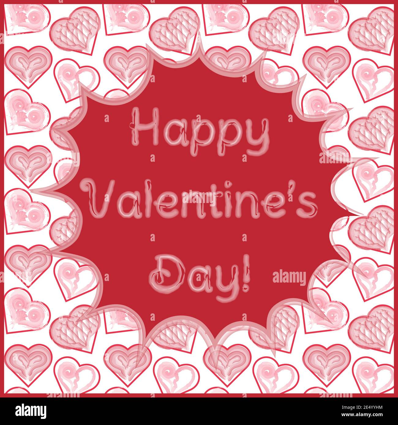 Heart Banner Garland Six Hearts Cherries