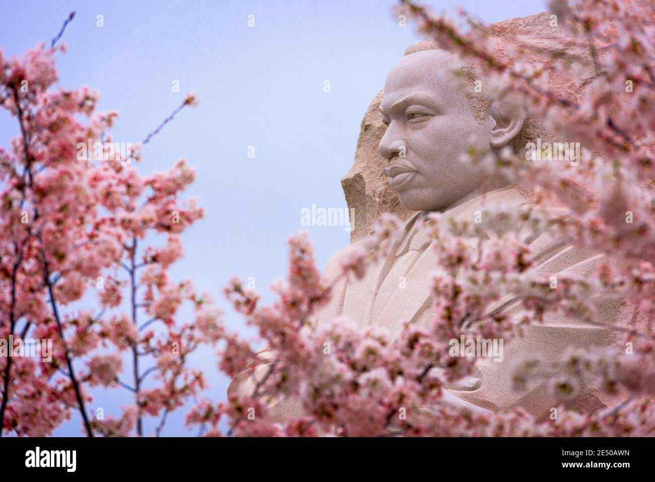 WASHINGTON - APRIL 8, 2015: The memorial to the civil rights leader Martin Luther King, Jr. during the spring season in West Potomac Park. Stock Photo