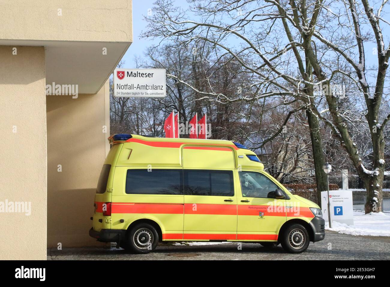 Malteser Krankenhaus St. Carolus in Görlitz, Notfall Ambulanz Stock Photo
