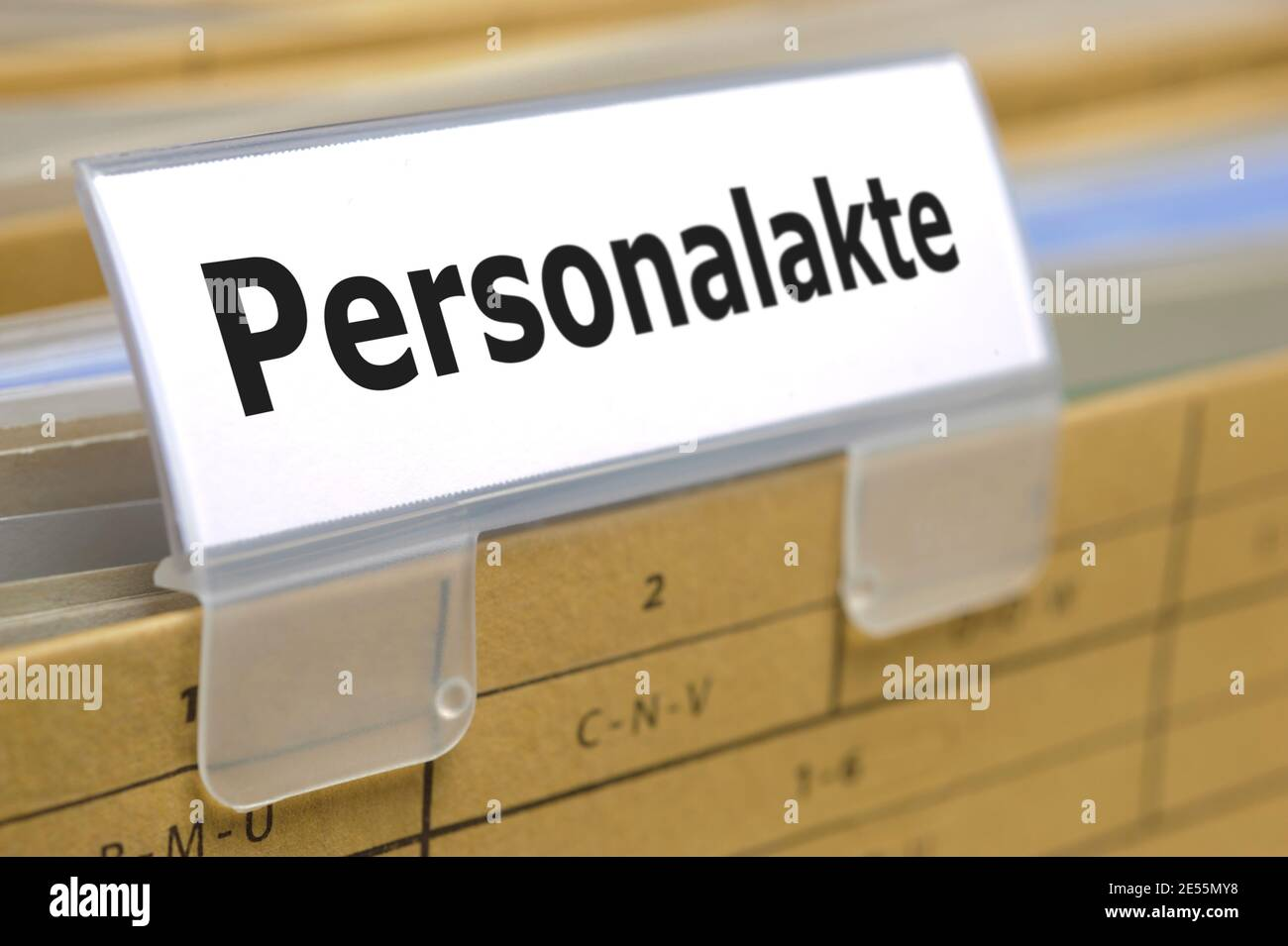 Hängeregister für Personalakte Stock Photo
