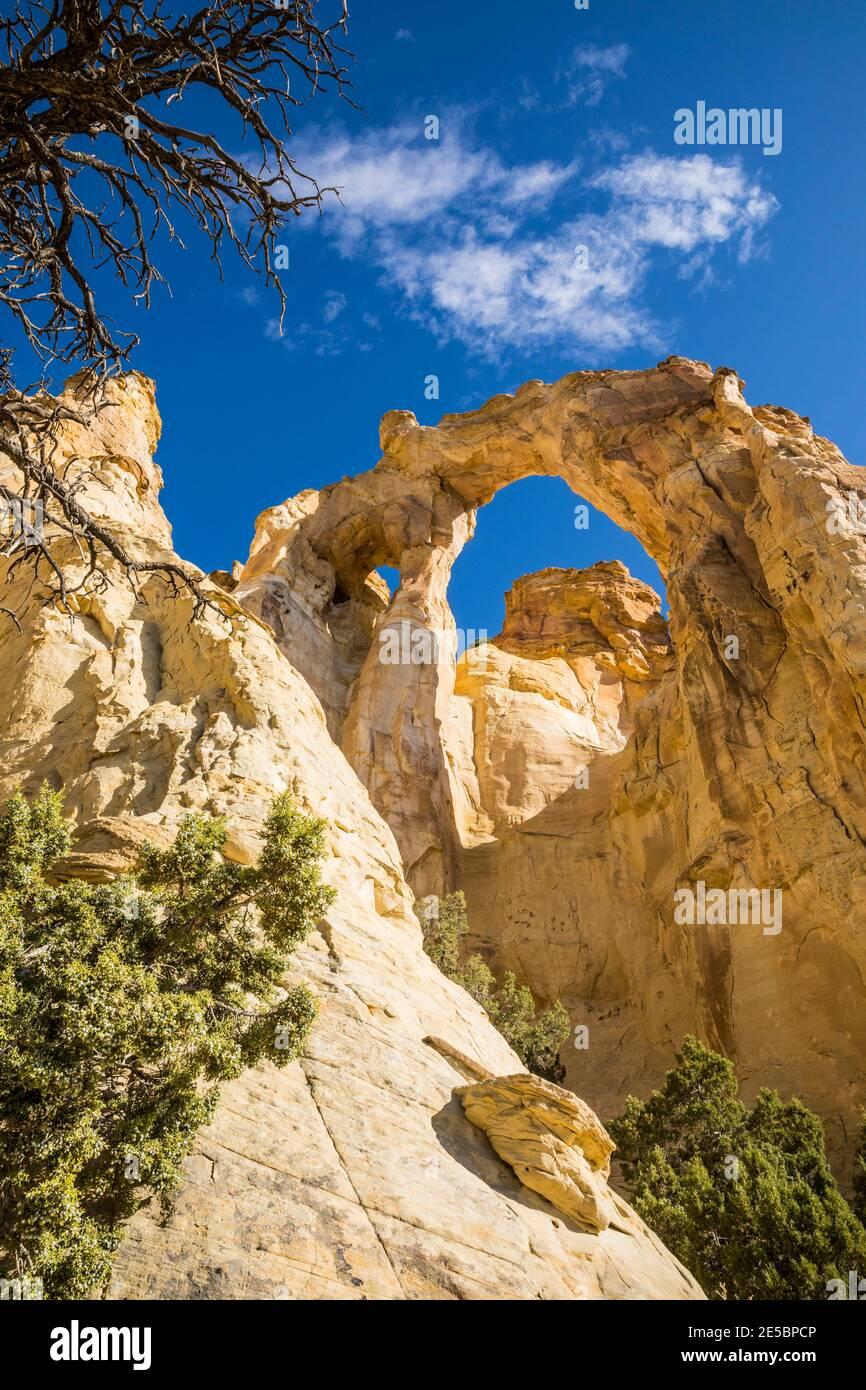 Grosvenor Arch, Grand Staircase-Escalante National Monument, Utah, USA. Stock Photo