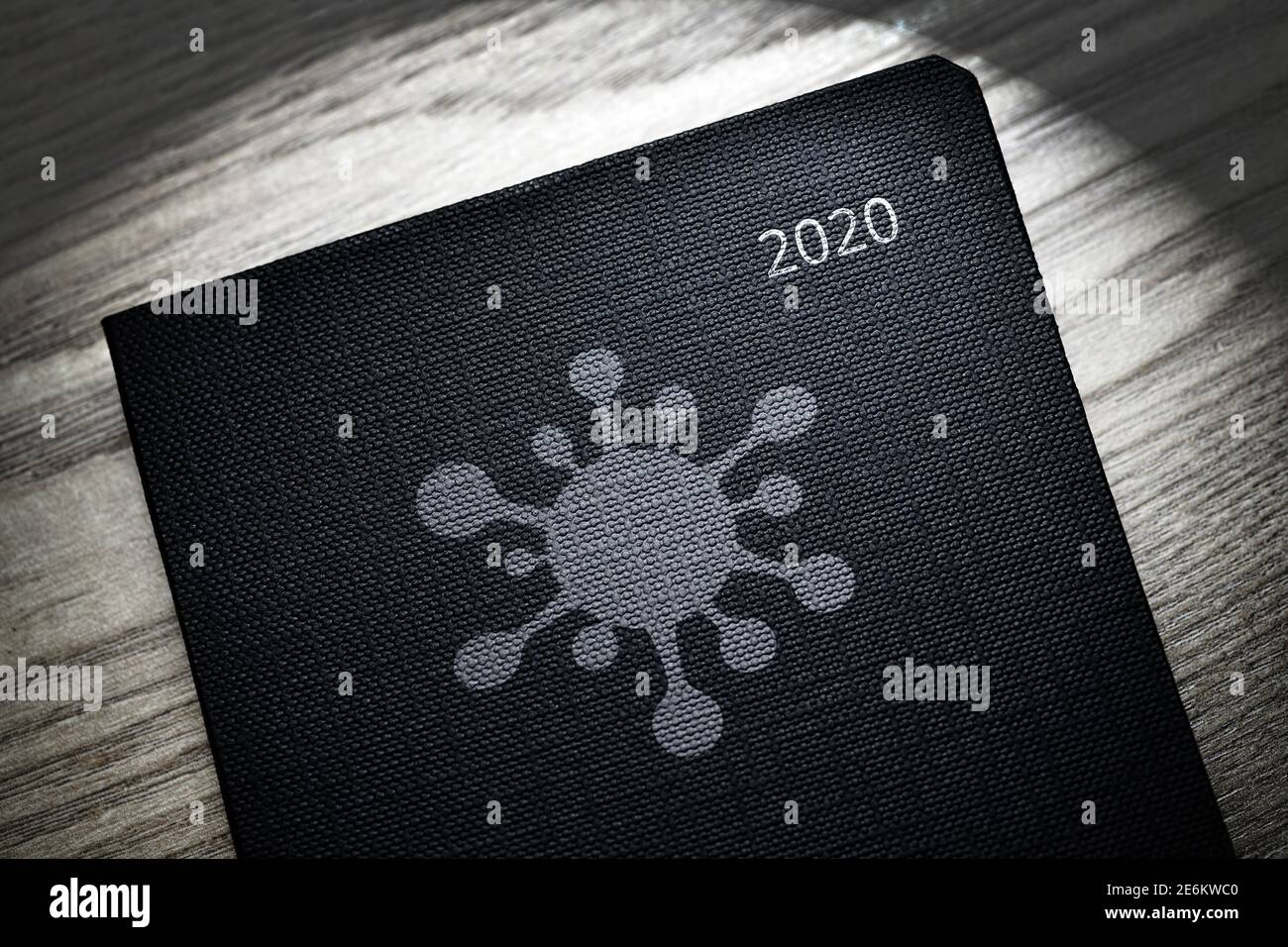 Coronavirus Symbol On Calendar Of The Year 2020 Stock Photo