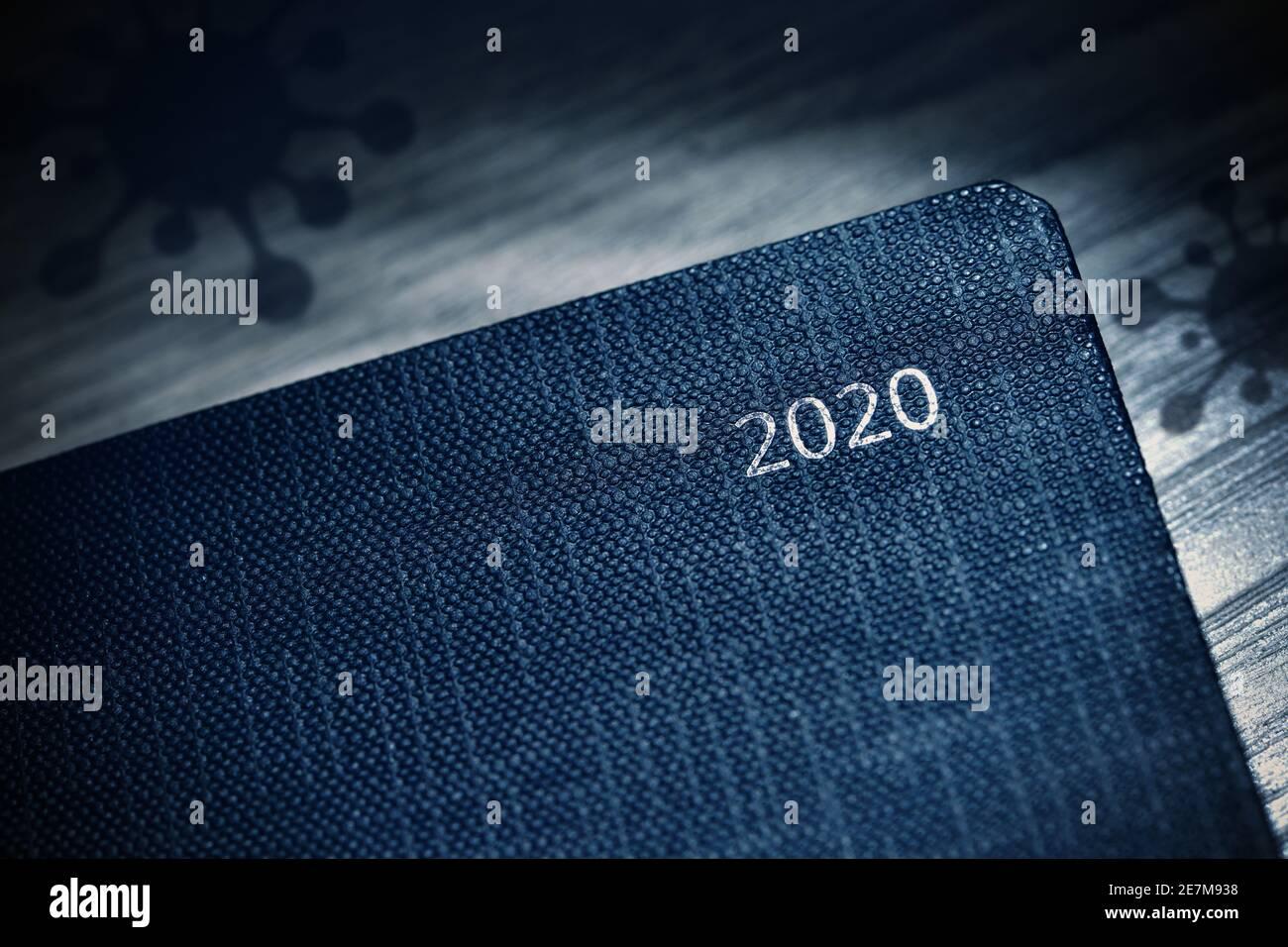 Calendar Of The Year 2020 And Coronavirus Symbols Stock Photo