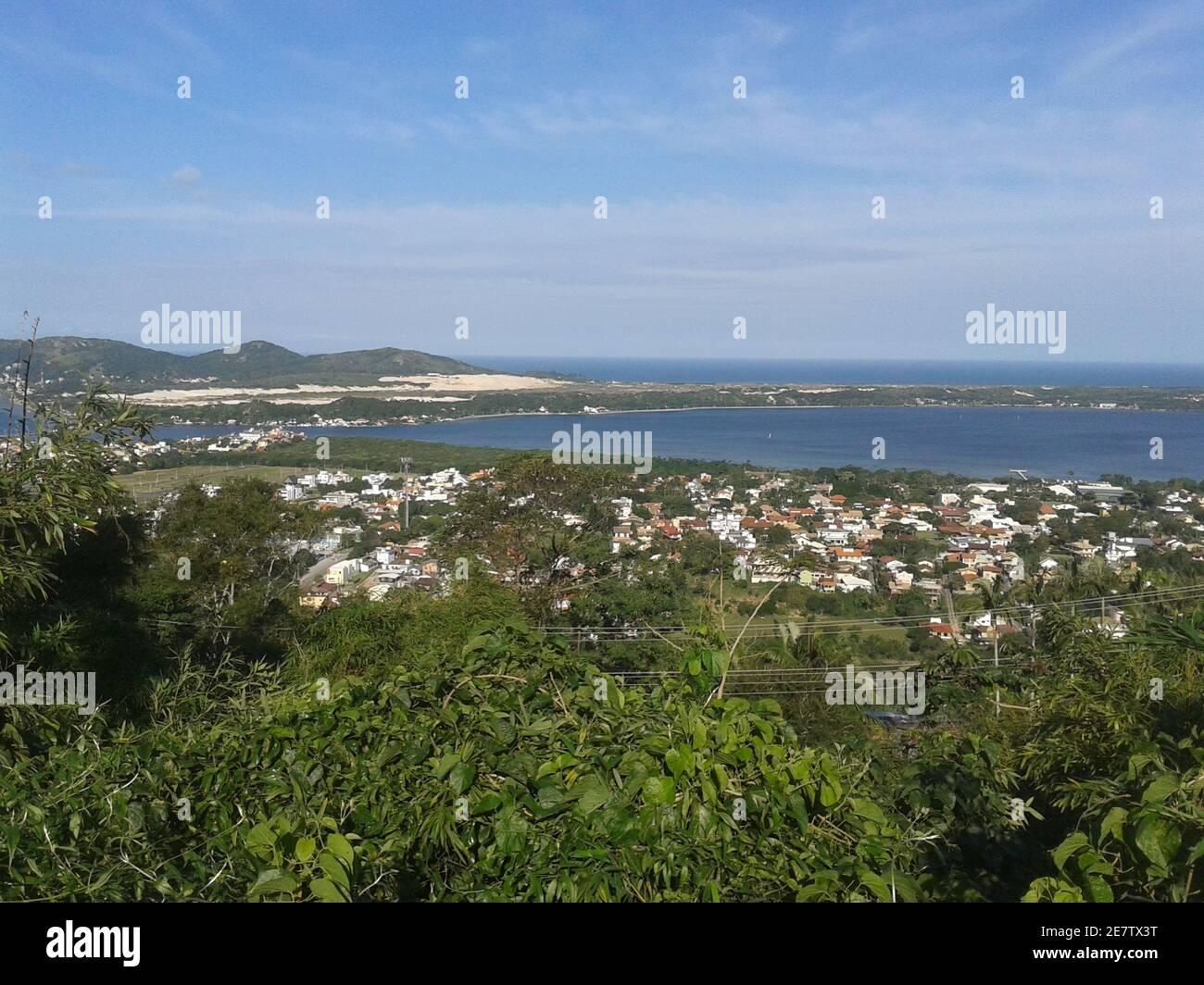 Vista Lagoa da Conceição -  Florianópolis SC Brazil Stock Photo