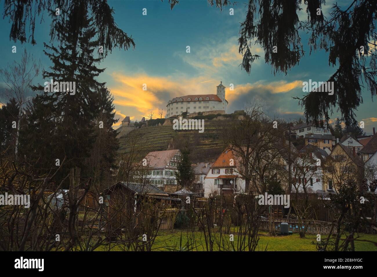 Schloss Kaltenstein in Vaihingen an der Enz - a castle in South Germany in a little village Stock Photo