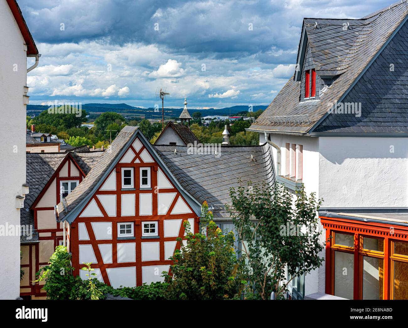 Half-timbered House In The Old Town Of Limburg An Der Lahn, Hesse Stock Photo