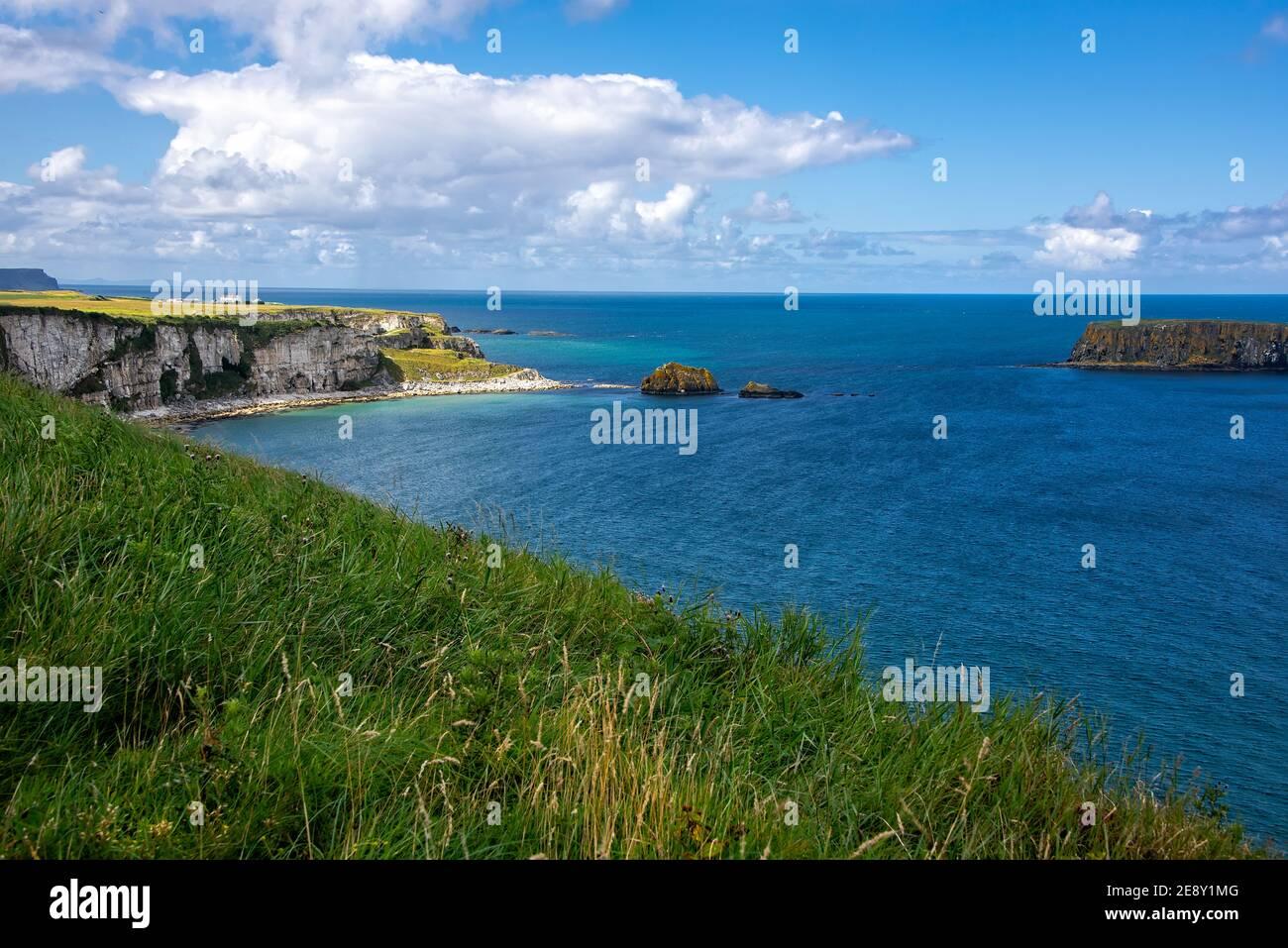 Antrim Coastline in Northern Ireland, Giants Causeway Stock Photo
