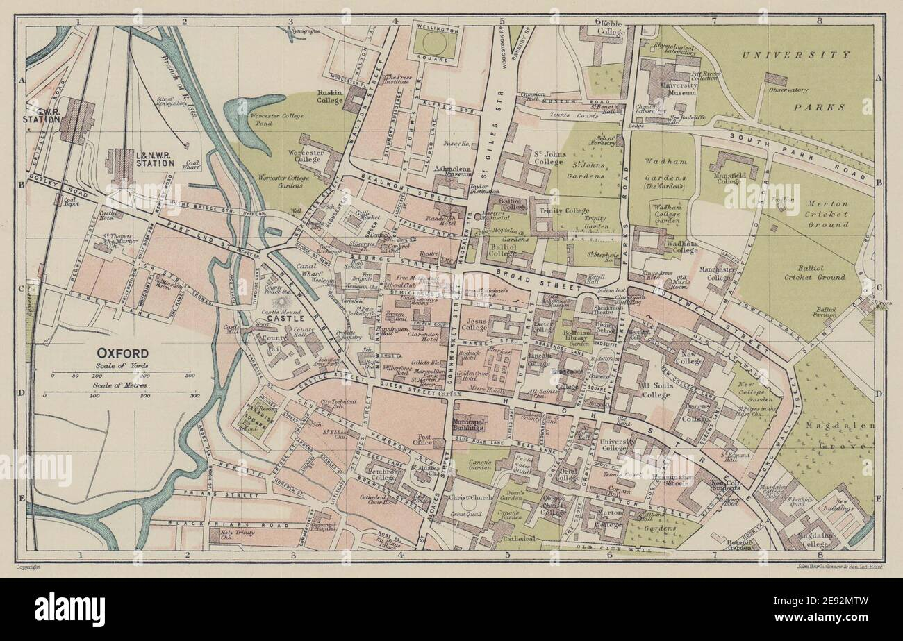 OXFORDSHIRE Antique county map 1893 old vintage plan chart