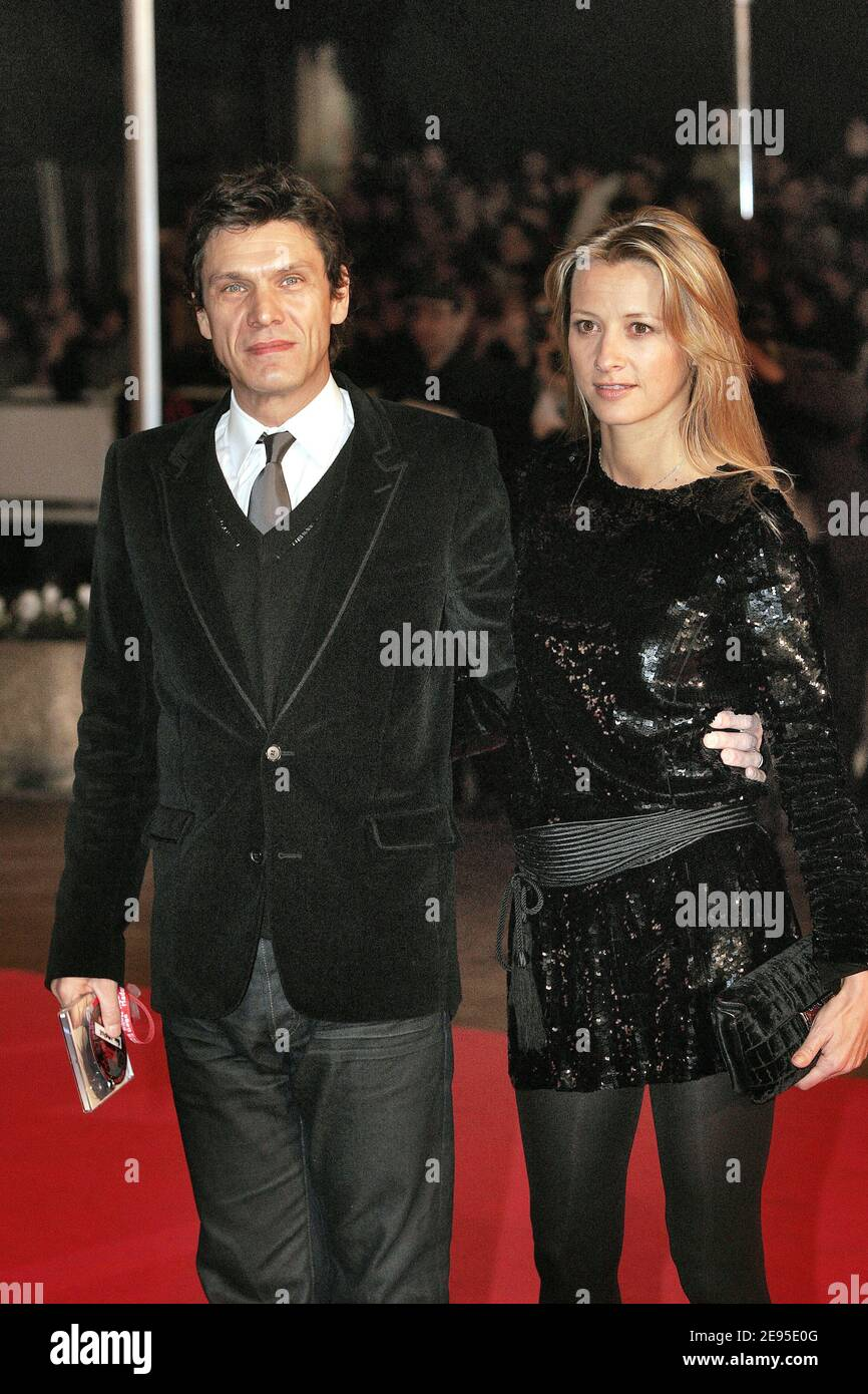 French Singer Marc Lavoine And His Wife Sarah Poniatowski Arrive At The 7th Nrj Music Awards At The Palais Des Festival In Cannes France On January 21 2006 Photo By Holubowicz Zabulon Abacapress Com Stock