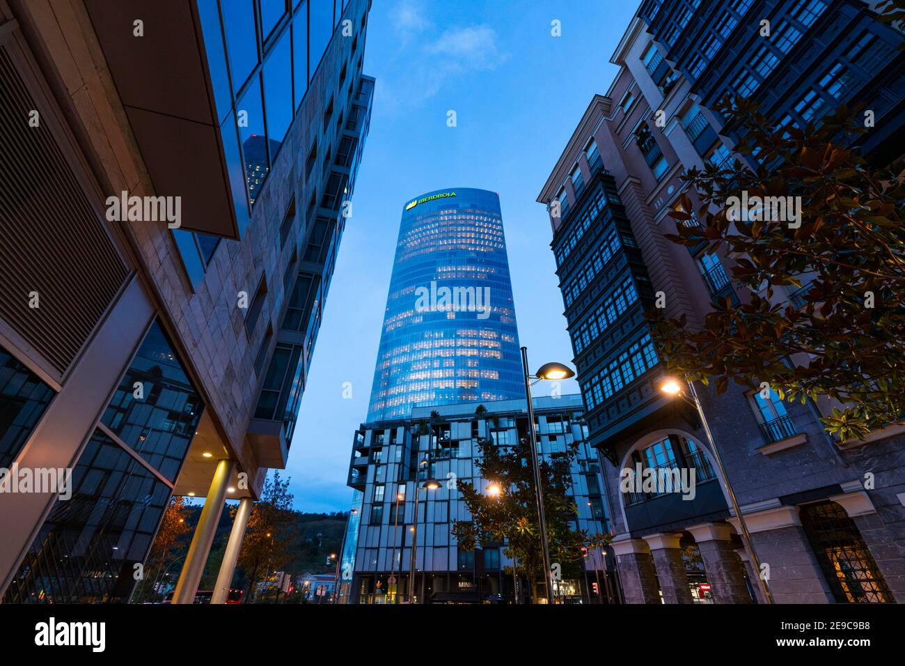 Iberdrola Tower, Bilbao, Bizkaia, Basque Country, Spain, Europe. Stock Photo