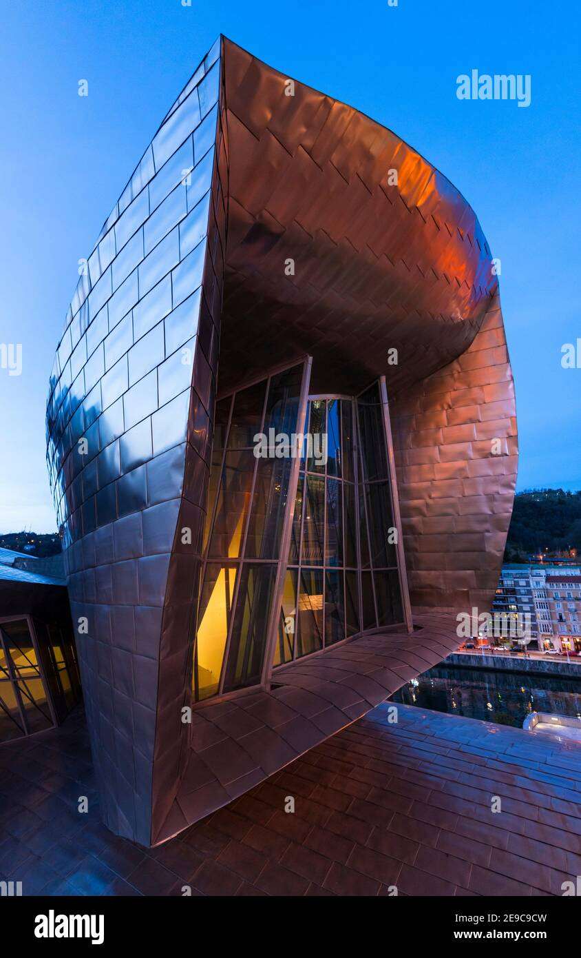 Guggenheim Museum, Bilbao, Bizkaia, Basque Country, Spain, Europe. Stock Photo