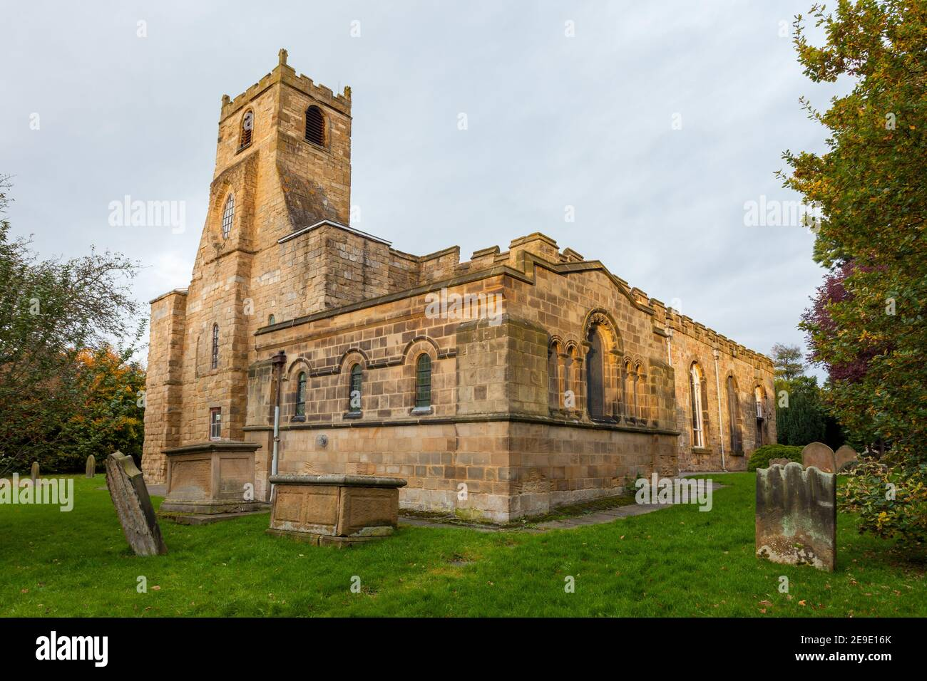 The historic parish church dedicated to St. Mary Magdalene in Yarm, North Yorkshire Stock Photo