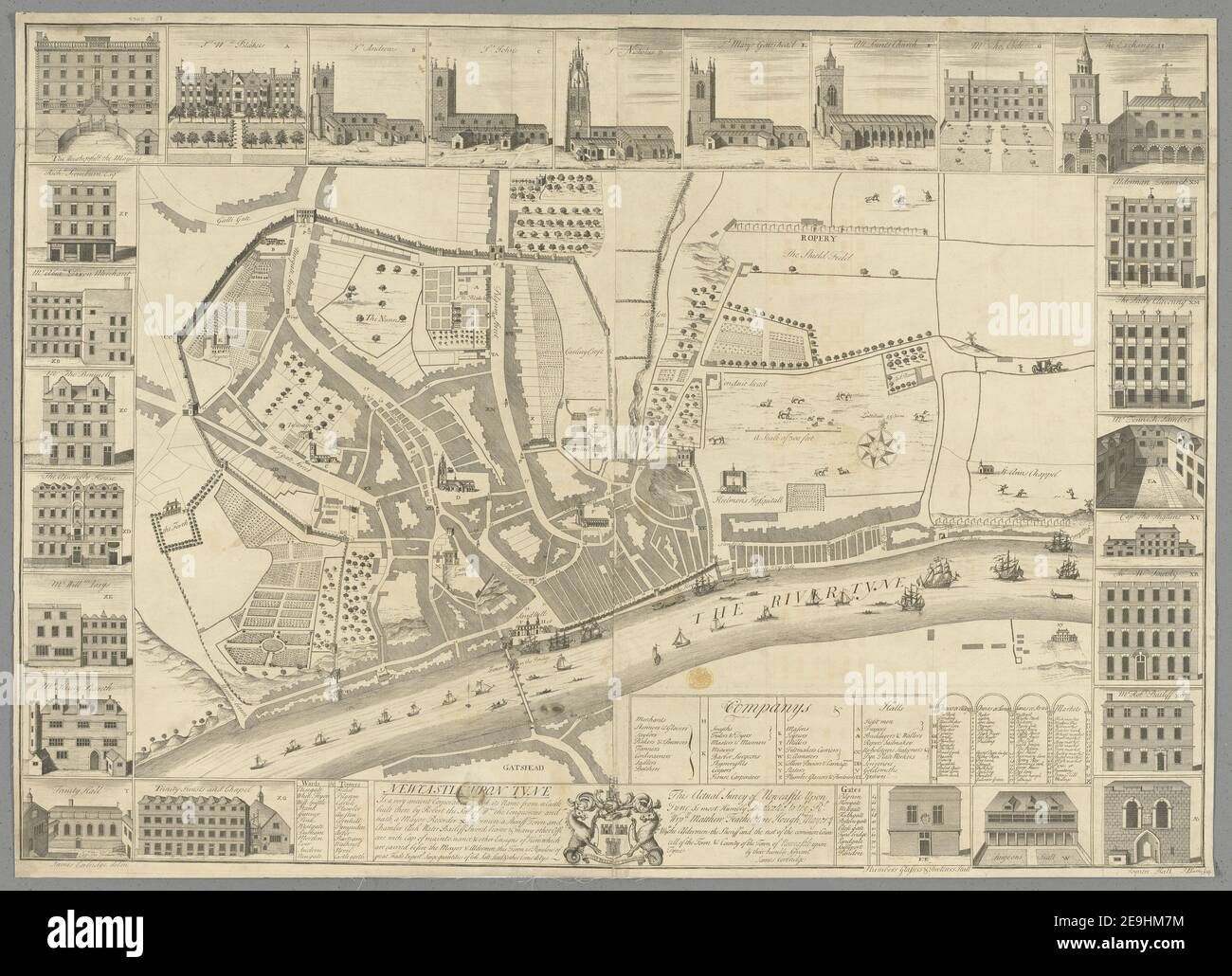 Map Of Newcastle Upon Tyne High Resolution Stock Photography and ...