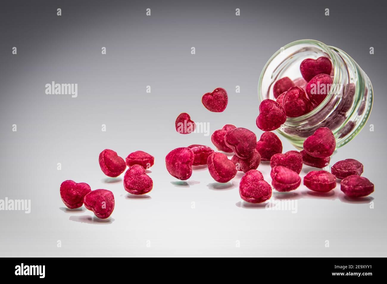 Valentine Bon Bons--Handmade Lampwork Beads