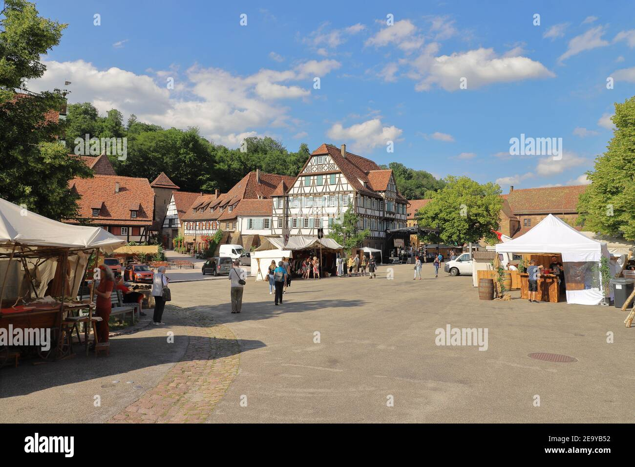 GERMANY, MAULBRONN - JUNE 21, 2019: Shortly before the beginning of the monastery festival 2019 Stock Photo