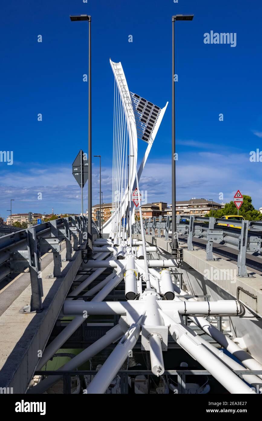 Ponte Flaiano, Pescara, Italy Stock Photo
