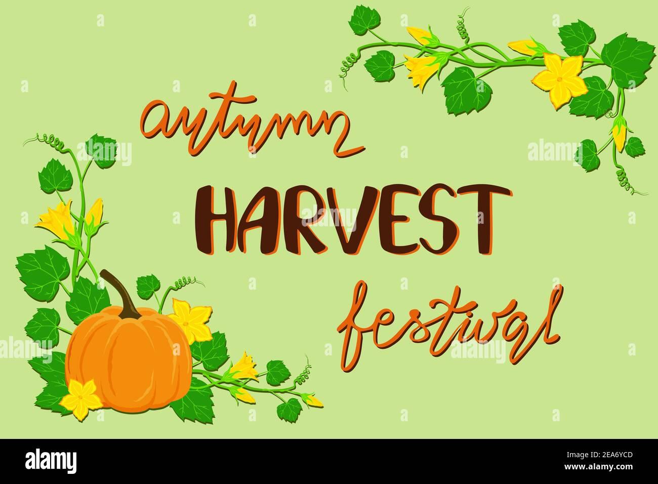Autumn harvest festival poster Stock Vector
