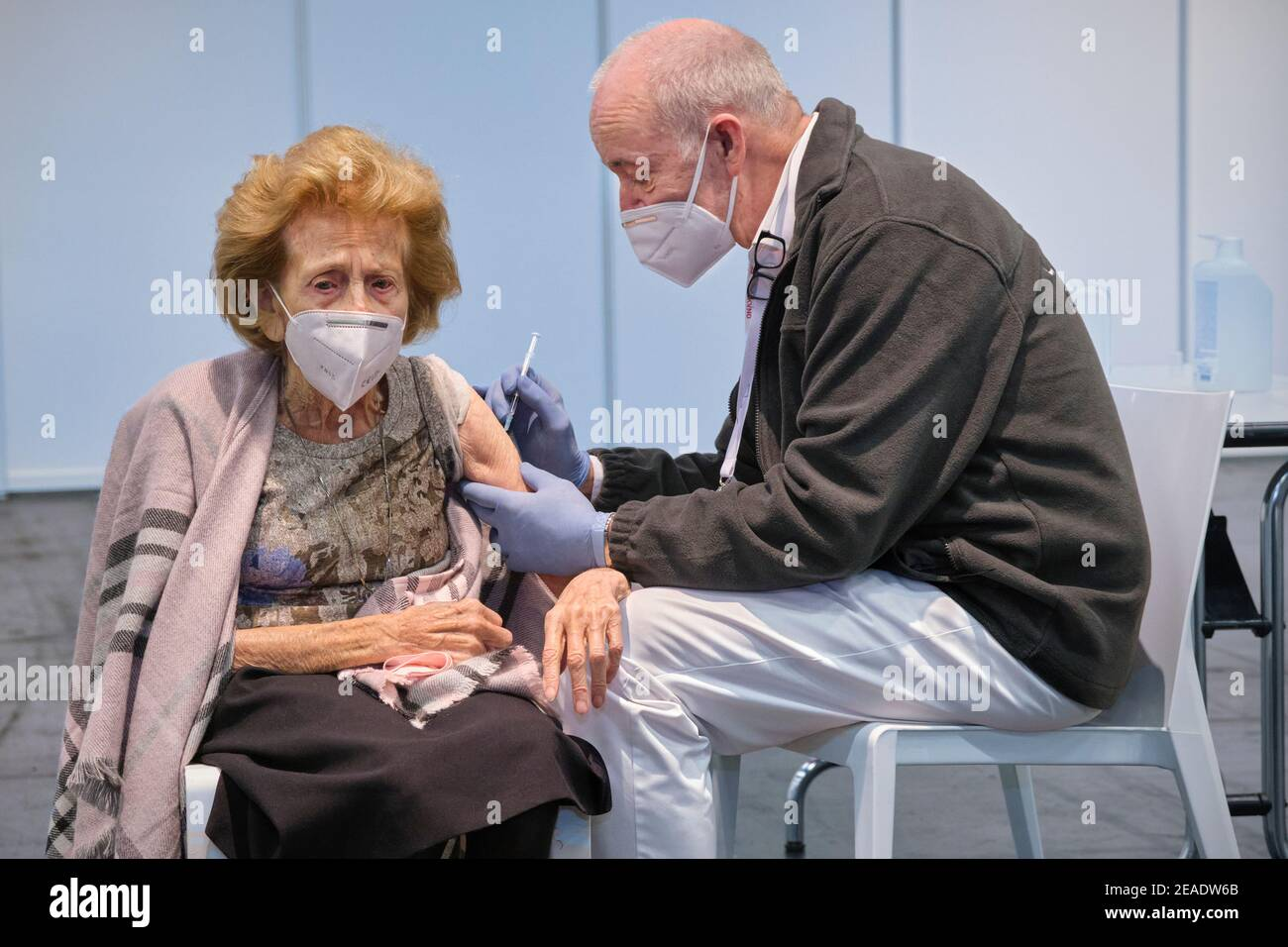 On 8 February, the vaccination centre of the city of Cologne started its long-awaited operation. Stock Photo