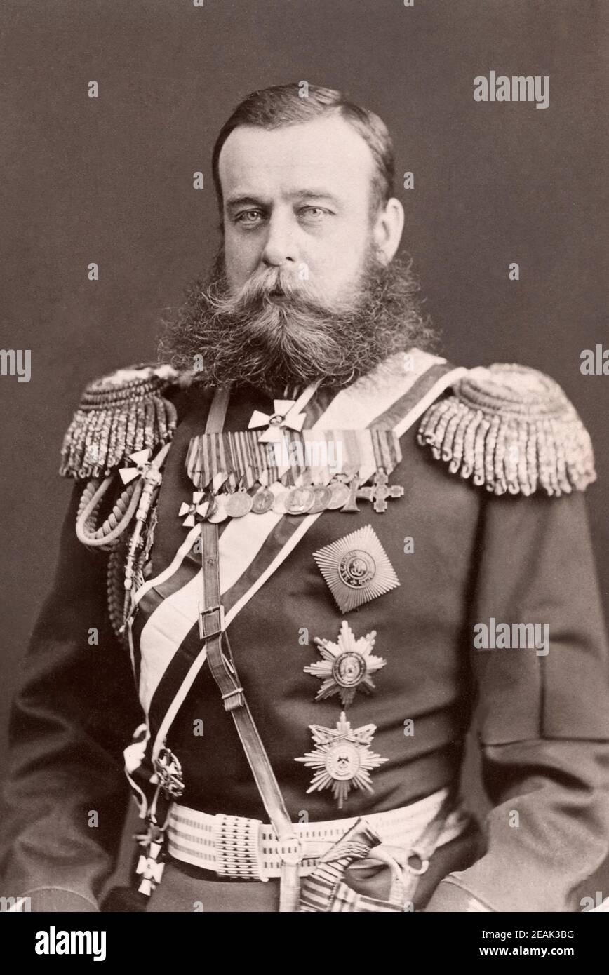 Miniature figure Mikhail Dmitrievich Skobelev 1877-1878 year Russian General of the Russo-Turkish war