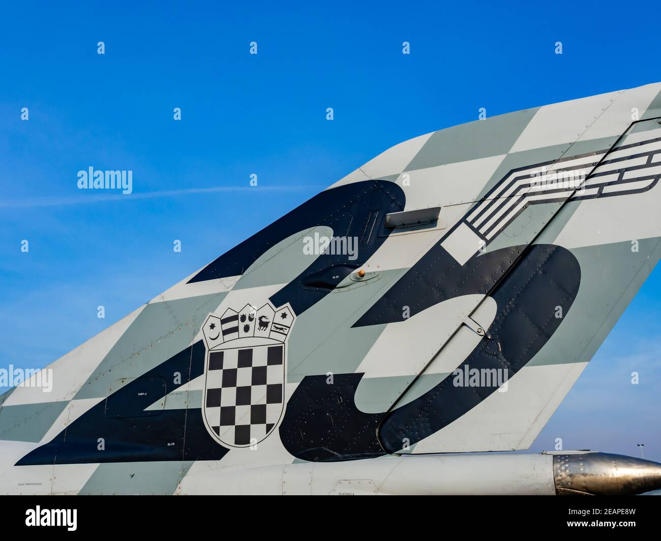 Croatian MiG21 BIS D 116 25 years of HRZ number marking Stock Photo