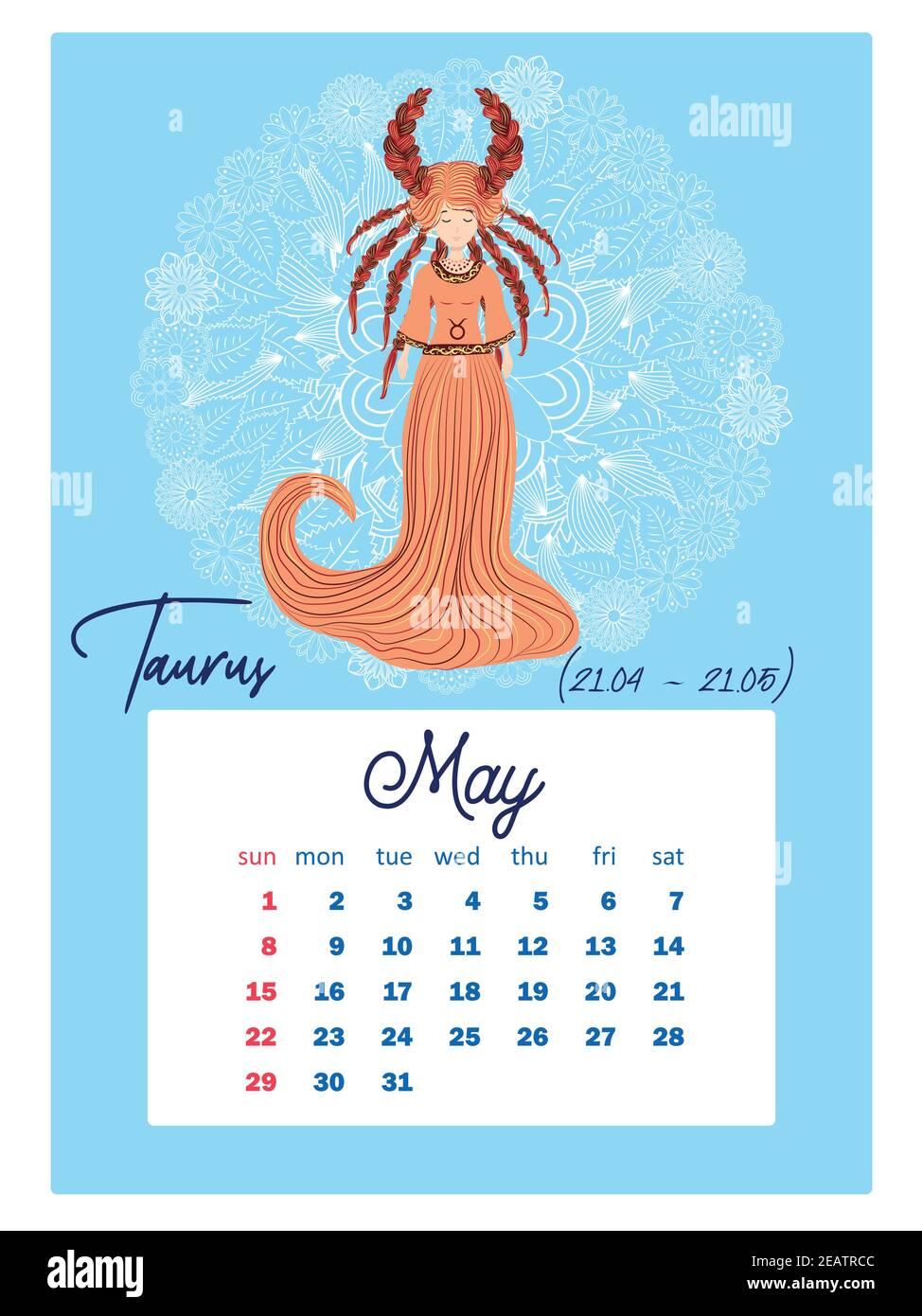 Zodiac Calendar 2022.Horoscope Vertical Calendar For 2022 With Female Zodiac Signs Week Starts On Sunday A4 Format Zodiac Signs Capricorn Aquarius Aries Pisces Vir Stock Vector Image Art Alamy