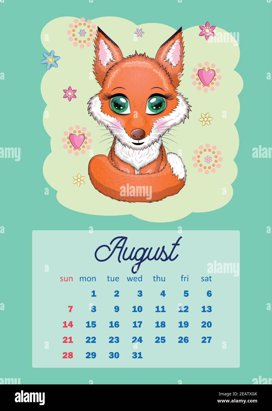 Cat Calendar 2022.Calendar 2022 With Cute Cardboard Animals For Every Month Tiger Snow Leopard Red Panda Cat Hippo Owl Lion Hare Fox Hamster Cow Vertical Ca Stock Vector Image Art Alamy