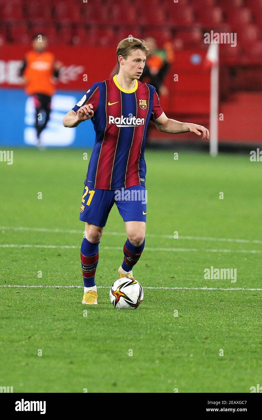 Frenkie De Jongh Of Fc Barcelona During The Spanish Cup Copa Del Rey Semi Final 1st